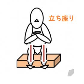 立ち座りの訓練図