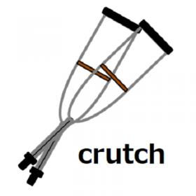 松葉杖の挿絵