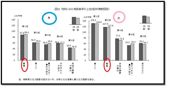 厚生省のグラフ上位5症状