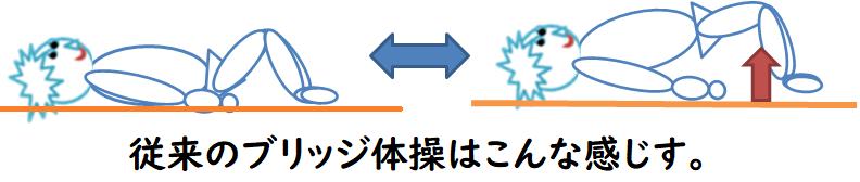 ブリッジ体操の図