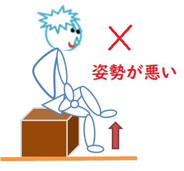 足上げの運動(ダメなやり方)